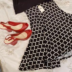 Sophie Max black & white mosaic pattern skirt NWT